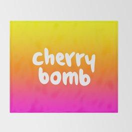CHERRY BOMB Throw Blanket