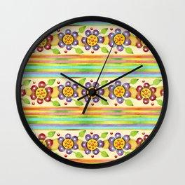 Parterre Botanique Floral Wall Clock