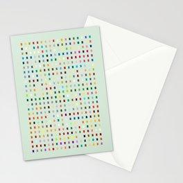 Geometric palette Stationery Cards