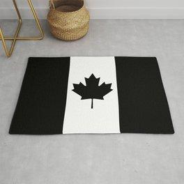 Canada: Black Military Flag Rug