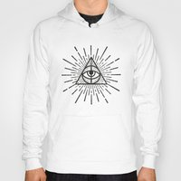 all seeing eye Hoodies featuring All seeing eye by Zak Rutledge
