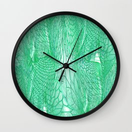 Seafoam Green Abstract 4 Wall Clock