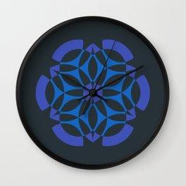Stealthy sense   Abstract sacred geometry   Aliens crop circle Wall Clock