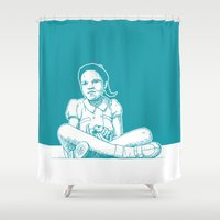 princess Shower Curtains featuring Princess by Moose van Papendorp