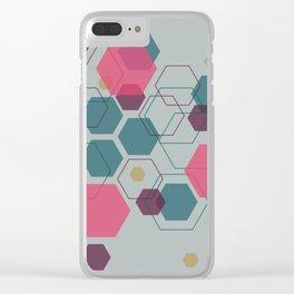 Hexagon Jewel Clear iPhone Case