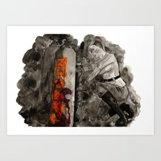 Incoming Zombies Art Print