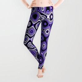 Wobbly Dots in purple Leggings
