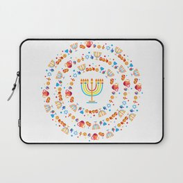 Happy Hanukkah Holiday Pattern Laptop Sleeve