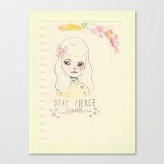 Stay Fierce (sketch) Canvas Print