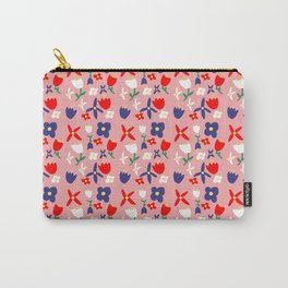 Bacchanal Handmade Floral Pattern Carry-All Pouch