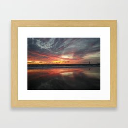 """HERE AND BELOW"" kitesurf . kite . surf Framed Art Print"