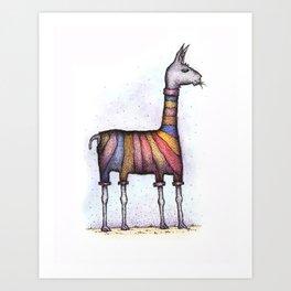 llamas get cold Art Print