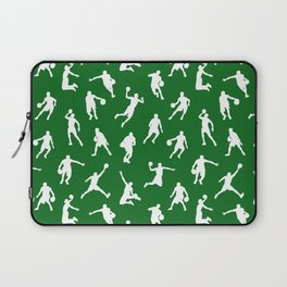 Basketball Players // Green Laptop Sleeve
