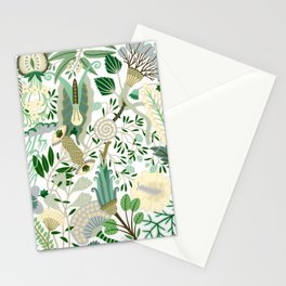 Green Flower Fantasy  Stationery Cards