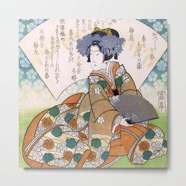 Lady Plum Blossom Metal Print
