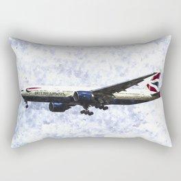 British Airways Boeing 777 Art Rectangular Pillow