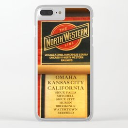 Original Early 1900s American Train Time Tables (RARE) Clear iPhone Case
