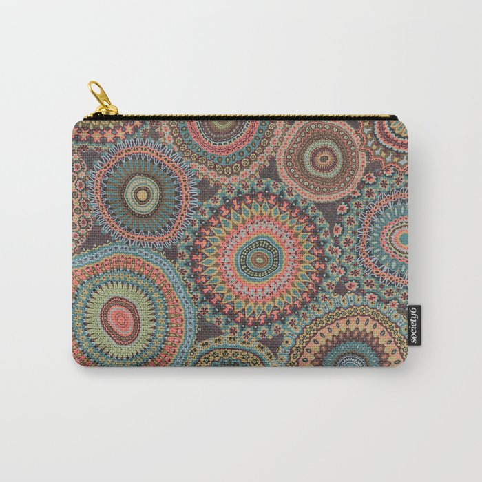 Boho Patchwork-Vintage colors Carry-All Pouch