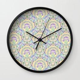 Iris Nouveau Wall Clock