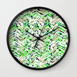 chalky skin light with green Wall Clock
