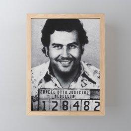 Pablo Escobar Mug Shot 1991 Vertical Framed Mini Art Print