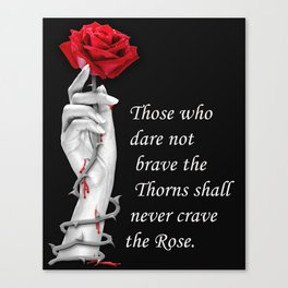 Rose and Thorns Canvas Print