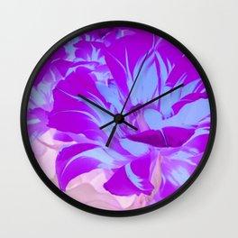purple blue tulip Wall Clock