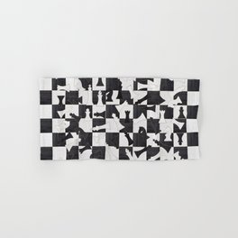 Chess Figures Pattern - Wood black and white Hand & Bath Towel