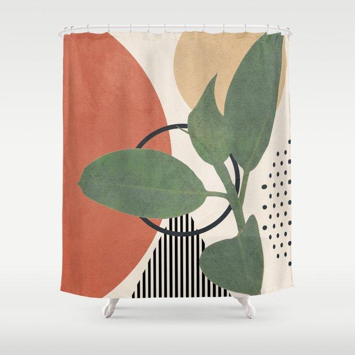 Nature Geometry III Shower Curtain