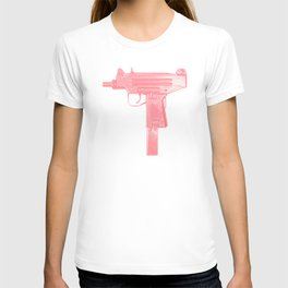 Pink machine gun T-shirt