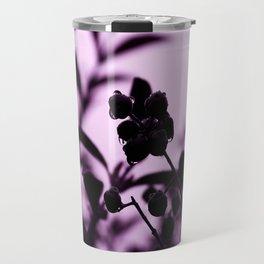 raindrops and hedge berries (purple) Travel Mug