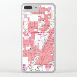 Vintage Map of Las Vegas Nevada (1967) 2 Clear iPhone Case