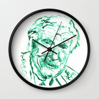 carl sagan Wall Clocks featuring Carl Jung by echoes