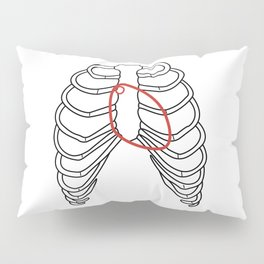 Red heart and ribs Pillow Sham