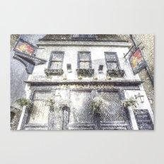 The Mayflower Pub London Snow Canvas Print