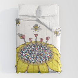 Bees at Work Comforters