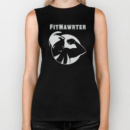 FitMawrter Design in White Biker Tank