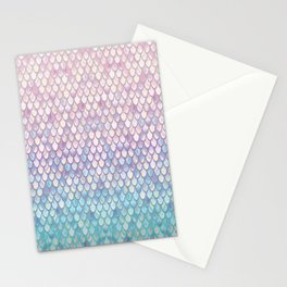 Spring Mermaid Scales Stationery Cards