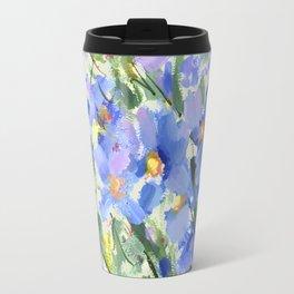 Blue Poppy Field Travel Mug