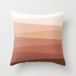 Earth colors geometry Throw Pillow