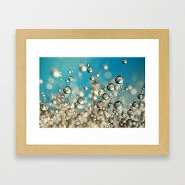 Crazy Cactus Droplets Framed Art Print