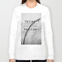 scripture Long Sleeve T-shirts featuring Adoption Scripture Art Psalm 68:5-6 by KimberosePhotography
