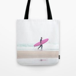 surfing beach vibes Tote Bag