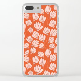 Floral Fields Pattern Design Clear iPhone Case