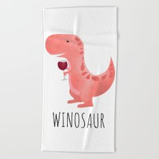 Winosaur Beach Towel