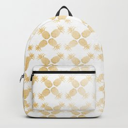 Gold Pineapples Backpack