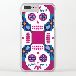 Talavera pink Clear iPhone Case