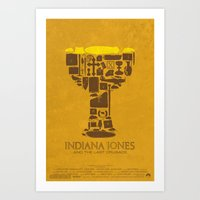 Indiana Jones and the Last Crusade Poster Art Print