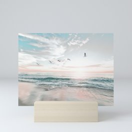 Beach Print, Sea Photo, Modern print, Beach Coastal Decor, Ocean, Beach Photo Mini Art Print