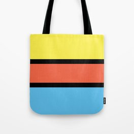 Diversions #1 in Yellow, Orange & Powder Blue Tote Bag